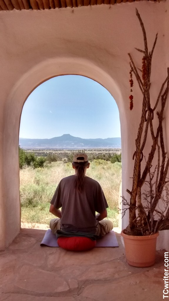 Meditating at Ghost Ranch2
